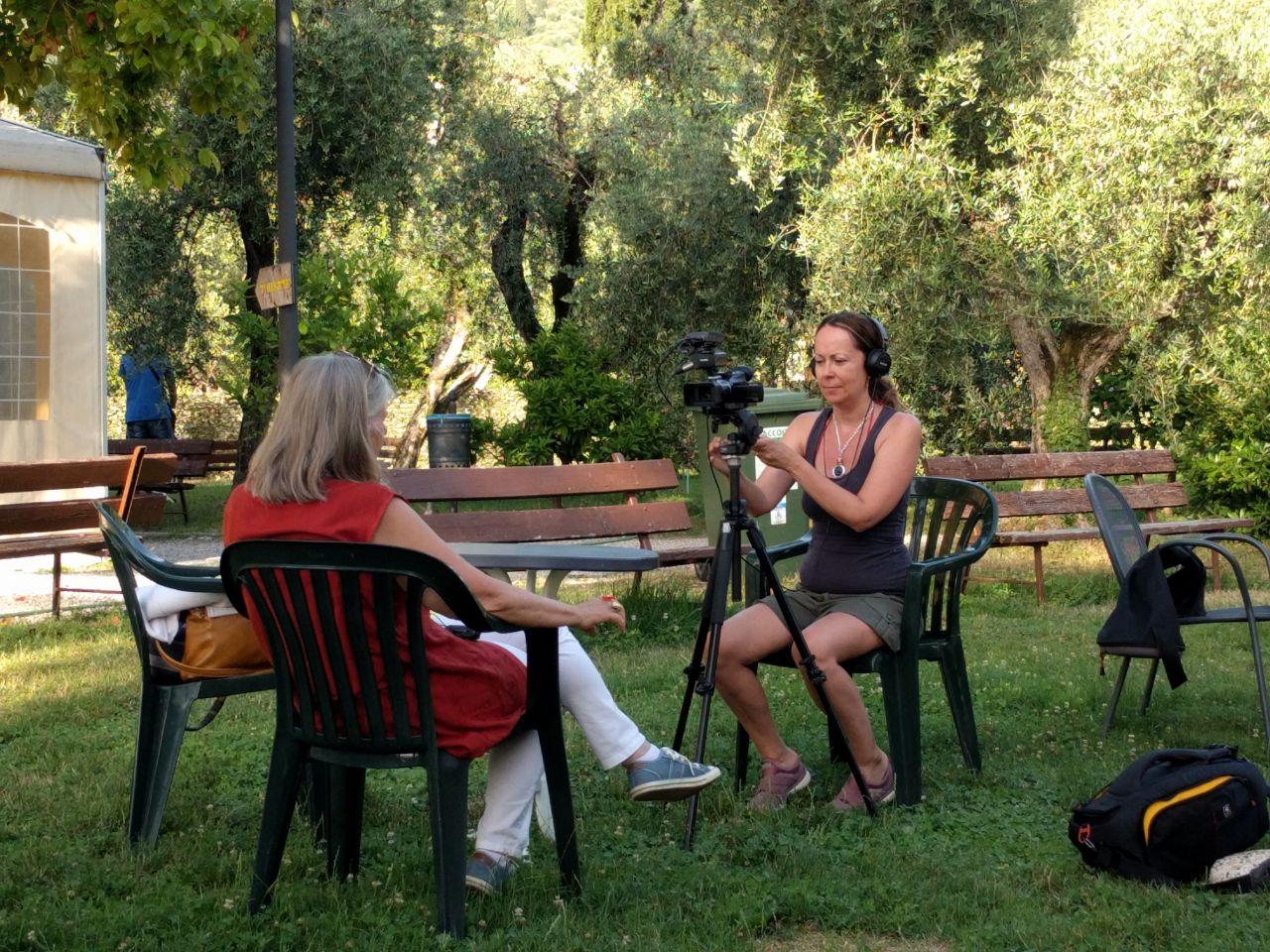 video shoot Mara Chinatti